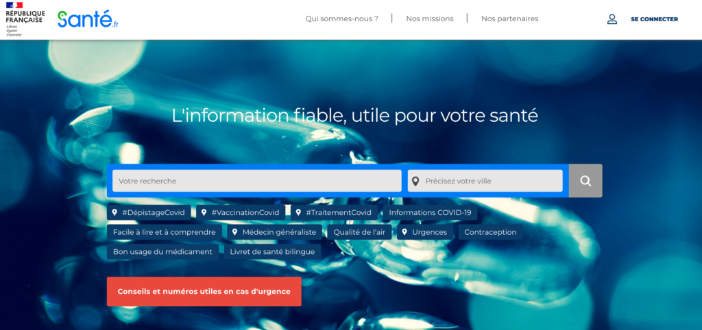 Aperçu du site www.sante.fr